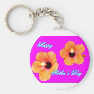 jGibney magenta alaranjado do hibiscus feliz do Chaveiro