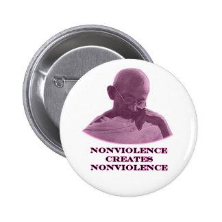 jGibney magenta do Nonviolence o presente de Bóton Redondo 5.08cm