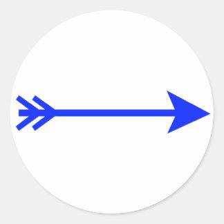 jGibney reto azul da seta o presente de Zazzle do Adesivo