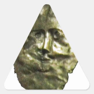 jGibney romano T de Inglaterra 1986 Mask1 Adesivos Triângulo