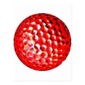 jGibney vermelho do golfe Ball1 os presentes de Cartões Postais