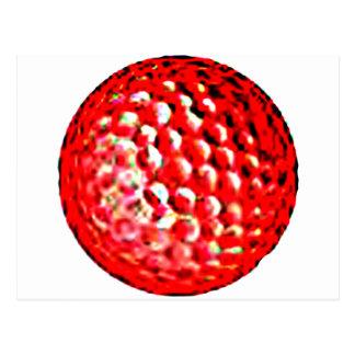 jGibney vermelho do golfe Ball1 os presentes de Cartão Postal