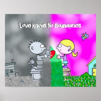 """Jimmy """"amor não sabe poster de nenhum limite"""" pôster"""