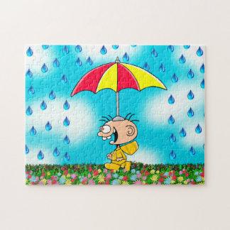 "Jimmy - ""andando quebra-cabeça na chuva"""