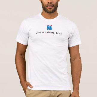 Jits no treinamento, braz. camiseta