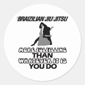 JIU BRASILEIRO JITSU ADESIVO REDONDO