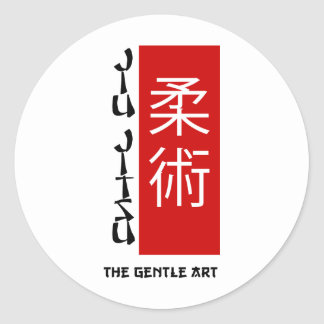 Jiu Jitsu - a arte delicada Adesivos Em Formato Redondos