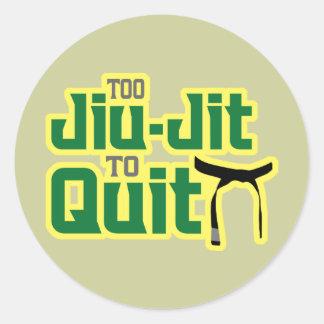 Jiu-Jitsu Adesivos Em Formato Redondos