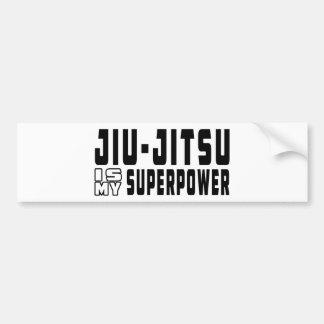 Jiu-Jitsu é minha superpotência Adesivo Para Carro