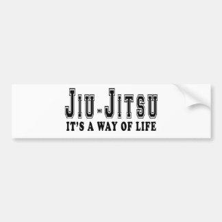 Jiu-Jitsu é modo de vida Adesivo Para Carro