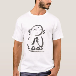 Jizo o t-shirt do curso da escova da monge camiseta