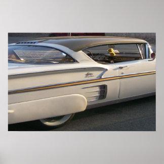 ©jlp do carro vintage poster