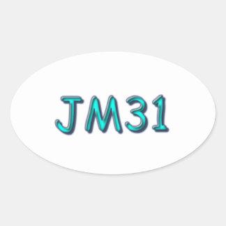 JM31 etiquetas ovais, lustrosas, 4,5 x 2,7