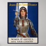 Joana do Pinup americano francês dos anúncios do Poster