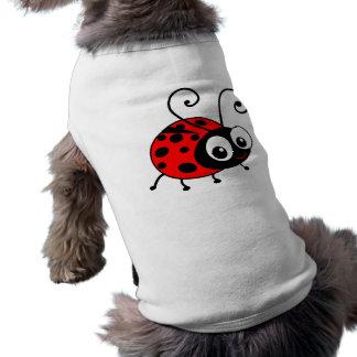 Joaninha bonito camisa sem mangas para cachorro
