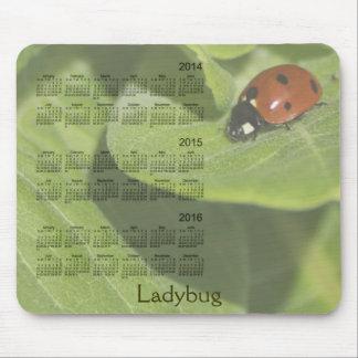 Joaninha calendário Mousepad de 3 anos 2014-2016