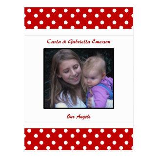 Joaninha & cartão personalizados das bolinhas