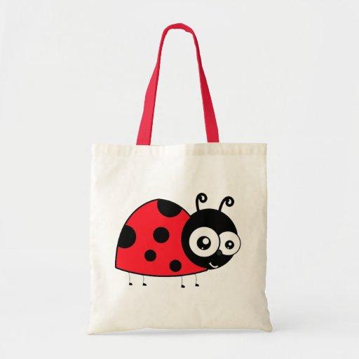 Joaninha dos desenhos animados bolsas para compras