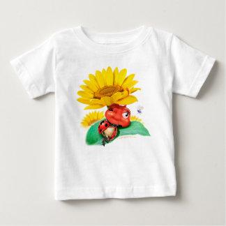 Joaninha sonolento da camisa do bebê T/joaninha