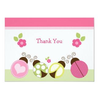 Joaninhas bonito & cartões de agradecimentos das convite 12.7 x 17.78cm
