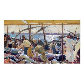 Joaquín Sorolla- a captura dos atuns Cartões De Visitas