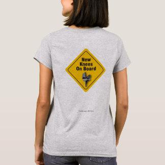 """""""Joelhos novos a bordo"""" do t-shirt bilateral de Camiseta"""