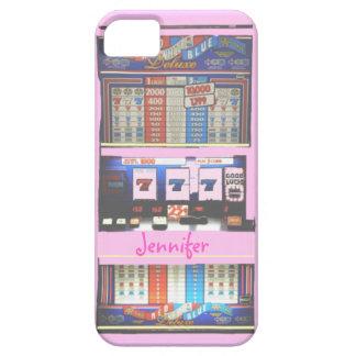 Jogador cor-de-rosa do casino do slot machine capa para iPhone 5