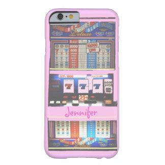 Jogador cor-de-rosa do casino do slot machine capa barely there para iPhone 6