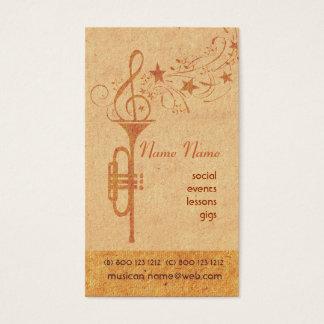 Jogador da banda escolar do chifre de Trompet da Cartão De Visitas