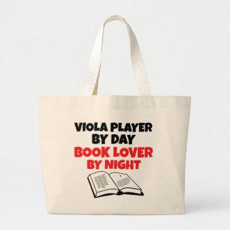Jogador da viola do amante de livro bolsa para compras