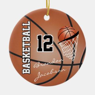 Jogador de basquetebol da estrela da assinatura ornamento de cerâmica
