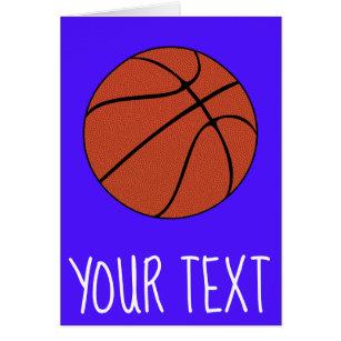 Jogador de basquetebol texto do treinador e cartão 7800b8a79b619