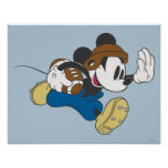 Jogador de futebol 4 de Mickey Mouse Pôsteres