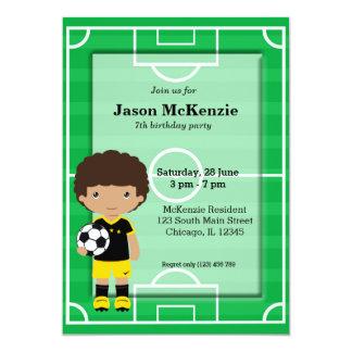 Jogador de futebol convite 12.7 x 17.78cm