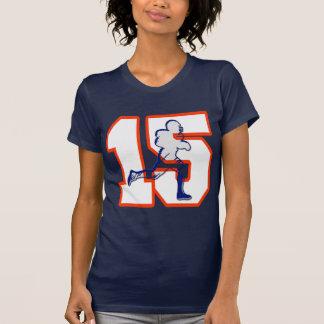 Jogador de futebol do número 15 camiseta