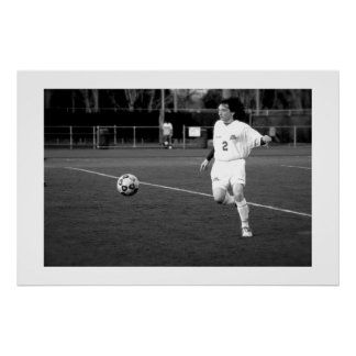 Jogador de futebol pôster