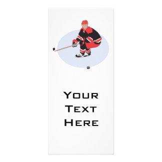 jogador de hóquei em gelo pronto para golpear 10.16 x 22.86cm panfleto