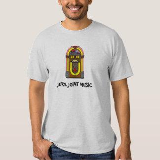 Jogador de música retro do jukebox da música da tshirt