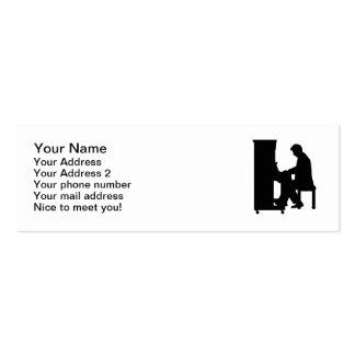 Jogador de piano cartoes de visita