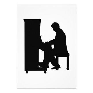 Jogador de piano convite personalizados