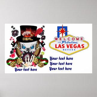 Jogador de Vegas todos os comentários do artista d Posteres