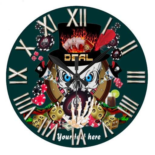 Jogador de Vegas todos os comentários do artista d Relógios De Pendurar
