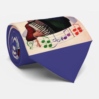 jogador do acordeão gravata