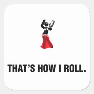 Jogador do pandeiro adesivo quadrado