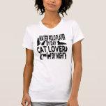 Jogador do pólo aquático do amante do gato camisetas