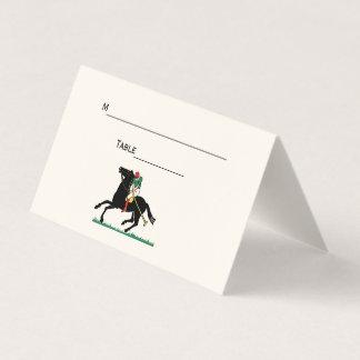 Jogador do polo no marfim do cartão da escolta do