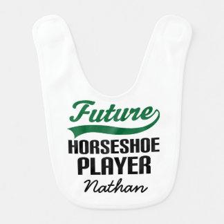 Jogador em ferradura futuro babador personalizado