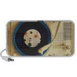 Jogador gravado do vintage caixinhas de som para iPod