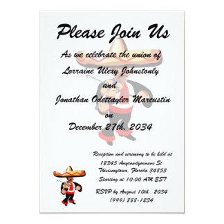 jogador mexicano do violino convite 12.7 x 17.78cm