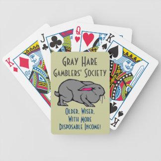 Jogadores cinzentos da lebre baralho para truco
